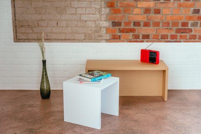 Papercomb | Papphocker | Kartonmöbel | Stella Stool Cardboard